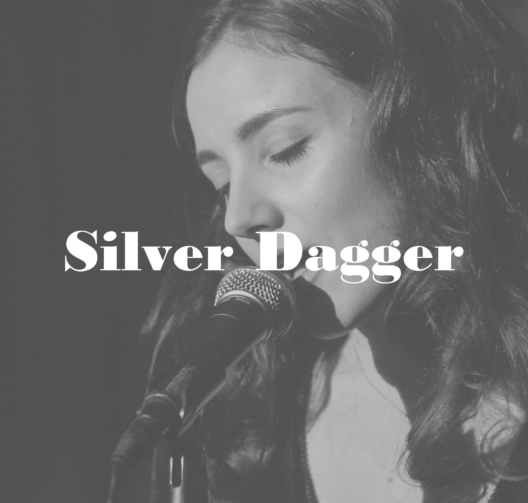 Silver dagger ebony buckle
